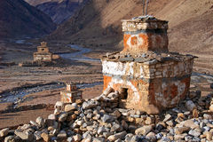 Chortens at Do Tarap (Inner Dolpo) Royalty Free Stock Photo