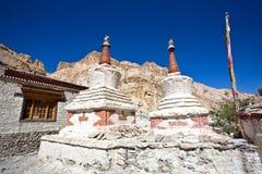 Chortens ou Stupas pendant le voyage de Markha, vallée de Markha, Ladakh, Inde Photo libre de droits