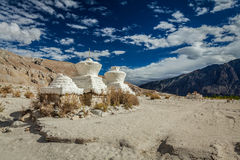 Chortens (Tibetan Buddhism stupas) in India Royalty Free Stock Images