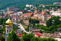 Chortkiv Ukraine. Chortkiv from above, Western Ukraine Stock Photos