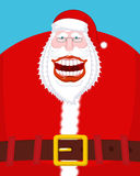 Chortle Santa Claus. Broad smile. large mouth. Merry Christmas o Royalty Free Stock Photo