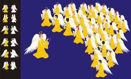 Chorus of angels. Multi-ethnic chorus of angels singing christmas carols Stock Images
