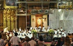 Chorus boys of Eskolaniya Royalty Free Stock Image