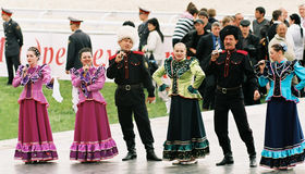 Chorus cossacks. Stock Images