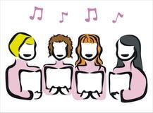 Chorus royalty free illustration
