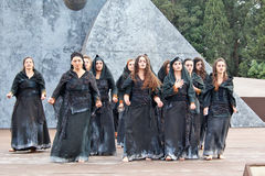 Chorus during a Greek tragedy representation Royalty Free Stock Photography