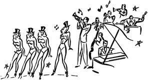Chorus Line Royalty Free Stock Photo