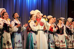 Chorus singing Royalty Free Stock Photography