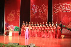 chorus Stage show in  new year  show Stock Images
