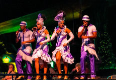 Chorus of tropicana caribbean musical show Royalty Free Stock Photos