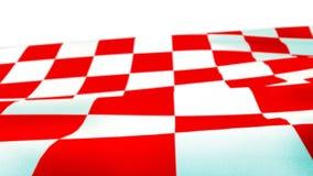 Chorwaccy czerwieni i białych kwadraty macha flaga zdjęcia stock