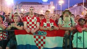 Chorwaccy fan piłki nożnej zdjęcie wideo