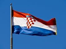 chorwaci flagę Zdjęcia Royalty Free