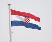chorwaci flagę fotografia stock