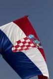 chorwaci flagę Zdjęcie Stock