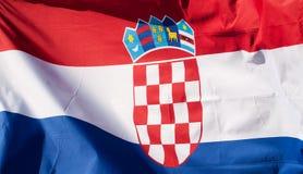 Chorwaci flaga Obrazy Stock