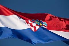 Chorwaci flaga Zdjęcie Stock