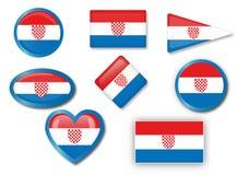 Chorwaci flaga Fotografia Royalty Free