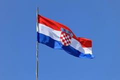 Chorwaci flaga Obraz Royalty Free