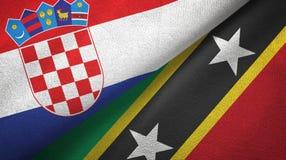 Chorwacja, święty i dwa flagi tekstylny płótno, tkaniny tekstura ilustracji
