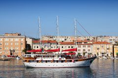 Chorwacja żeglowania statek fotografia royalty free
