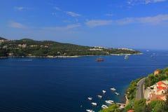 Chorwacja - Adriatycki krajobraz widzieć od przedmieść Dubrovnik zdjęcie stock