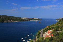Chorwacja - Adriatycki krajobraz widzieć od przedmieść Dubrovnik obrazy royalty free