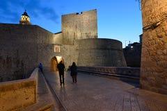 Chorwacja, Dubrovnik, otoczenia Ploce brama zdjęcie stock