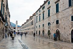 Chorwacja, Dubrovnik stradun zdjęcia royalty free