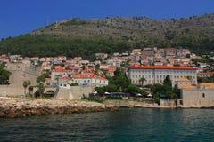Chorwacja, Dubrovnik widzieć od morza - fotografia stock
