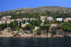 Chorwacja, Dubrovnik widzieć od morza - obraz royalty free