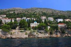 Chorwacja, Dubrovnik widzieć od morza - zdjęcie stock