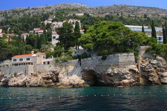 Chorwacja, Dubrovnik widzieć od morza - zdjęcia stock