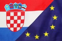 Chorwacja & Eu flaga mieszanka obraz stock