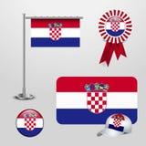 Chorwacja flaga projekta wektor ilustracja wektor