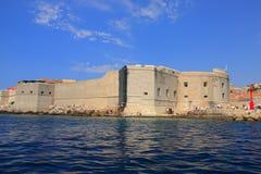 Chorwacja - fortyfikacje widzieć od Adriatyckiego morza Dubrovnik fotografia royalty free