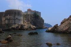 Chorwacja - historyczne fortyfikacje w Dubrovnik obraz stock