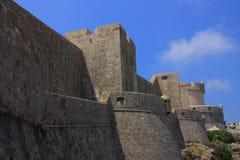 Chorwacja - historyczne fortyfikacje w Dubrovnik fotografia stock