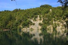 Chorwacja - krajobraz Plitvice jeziora zdjęcia stock