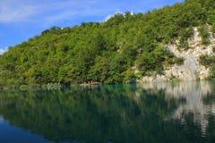 Chorwacja - krajobraz Plitvice jeziora obrazy stock