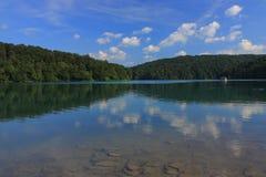 Chorwacja - krajobraz Plitvice jeziora zdjęcie stock