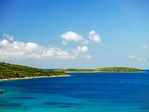 Chorwacja krajobraz przy nadmorski fotografia stock