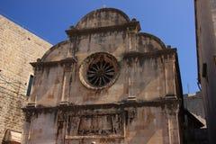 Chorwacja - renaissance kościół wybawiciel w Dubrovnik obraz stock