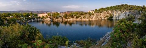 Chorwacja smoka jeziorny oko Obraz Royalty Free