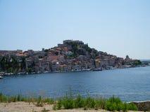 Chorwacja, stary miasto blisko Adriatyckiego morza fotografia stock