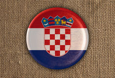 Chorwacja Textured Wokoło Chorągwianego drewna na szorstkim płótnie obrazy stock