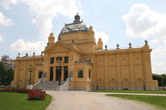 Chorwacja UE członek, Zagreb, sztuka pawilon/ zdjęcie stock