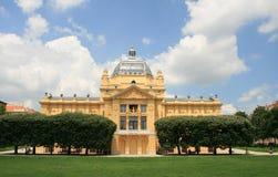 Chorwacja UE członek, Zagreb, sztuka pawilon/ zdjęcia stock