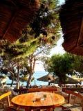 Chorwacja widok podczas gościa restauracji Zdjęcie Stock