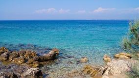 Chorwacja - wyspa Ugljan - Piękna zatoka zdjęcie stock